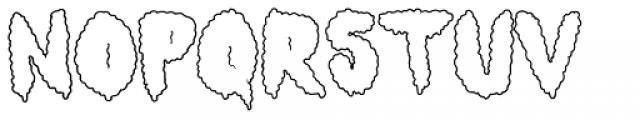 Lumps Outline Font UPPERCASE