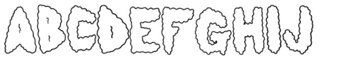 Lumps Outline Font LOWERCASE