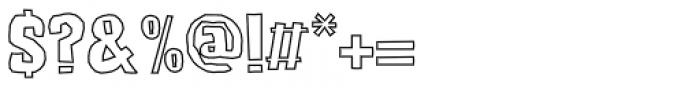 Lunisolar Hollow Regular Font OTHER CHARS