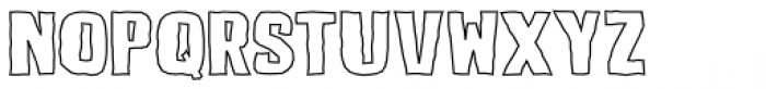 Lunisolar Hollow Regular Font UPPERCASE