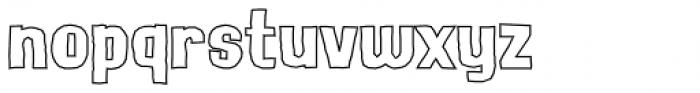 Lunisolar Hollow Regular Font LOWERCASE