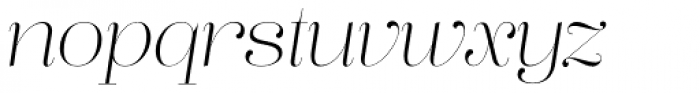 Lust Pro Didone Demi No1 Italic Font LOWERCASE