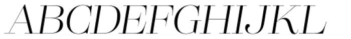 Lust Pro Didone Demi No2 Italic Font UPPERCASE