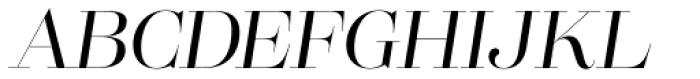 Lust Pro Didone Demi No3 Italic Font UPPERCASE