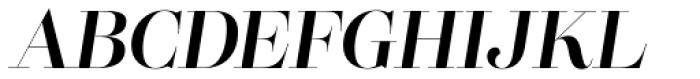 Lust Pro Didone Demi No4 Italic Font UPPERCASE