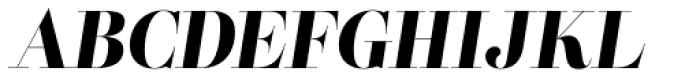 Lust Pro Didone Demi No5 Italic Font UPPERCASE