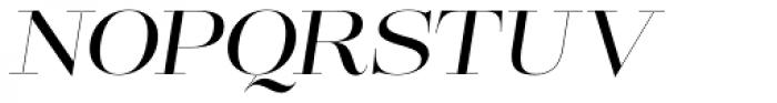 Lust Pro Didone No3 Italic Font UPPERCASE