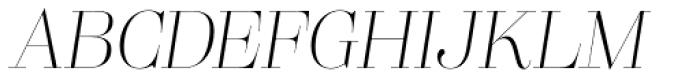 Lust Pro Didone Slim No1 Italic Font UPPERCASE