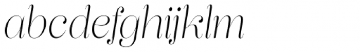 Lust Pro Didone Slim No1 Italic Font LOWERCASE
