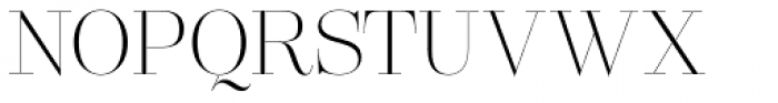 Lust Pro Didone Slim No1 Font UPPERCASE