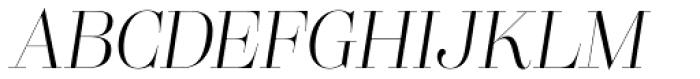 Lust Pro Didone Slim No2 Italic Font UPPERCASE