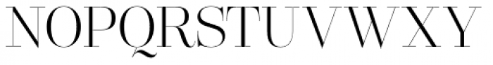 Lust Pro Didone Slim No2 Font UPPERCASE