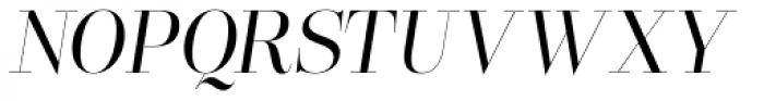 Lust Pro Didone Slim No3 Italic Font UPPERCASE