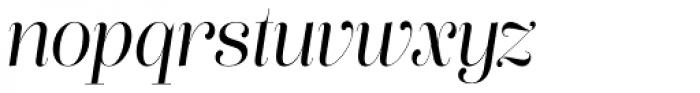Lust Pro Didone Slim No3 Italic Font LOWERCASE
