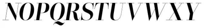 Lust Pro Didone Slim No4 Italic Font UPPERCASE