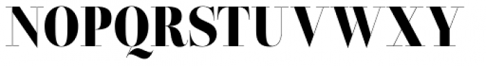 Lust Pro Didone Slim No5 Font UPPERCASE