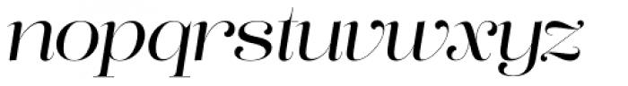 Lust Pro No3 Italic Font LOWERCASE