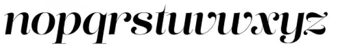 Lust Pro No4 Italic Font LOWERCASE