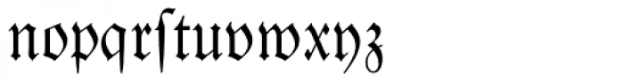 Luthersche Fraktur Dfr Font LOWERCASE