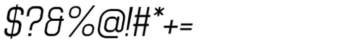 Luzern Italic Font OTHER CHARS