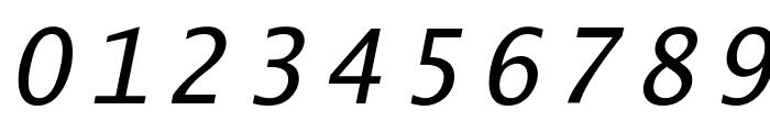 Lucida Sans Typewriter Oblique Font OTHER CHARS