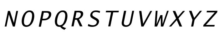 Lucida Sans Typewriter Oblique Font UPPERCASE