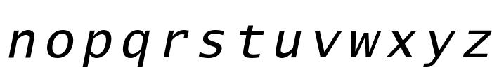 Lucida Sans Typewriter Oblique Font LOWERCASE
