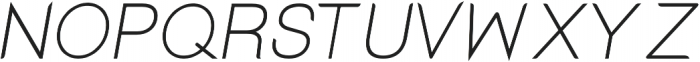 Lx Sans Italic otf (400) Font UPPERCASE