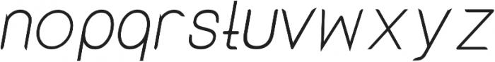 Lx Sans Italic otf (400) Font LOWERCASE
