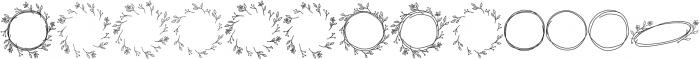Lysandra Extras otf (400) Font UPPERCASE