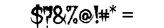 Lycanthrope Font OTHER CHARS