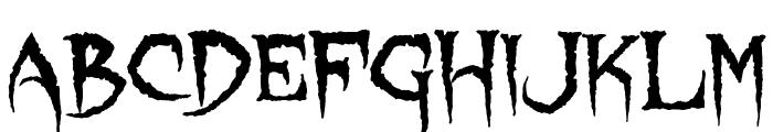 Lycanthrope Font UPPERCASE