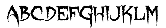 Lycanthrope Font LOWERCASE
