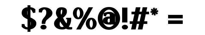 Lyons Serif Black Font OTHER CHARS