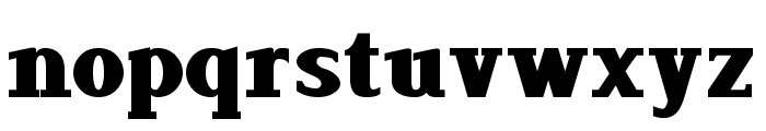 Lyons Serif Black Font LOWERCASE