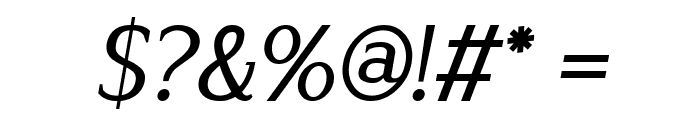 Lyons Serif Italic Font OTHER CHARS