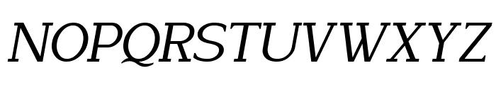 Lyons Serif Italic Font UPPERCASE