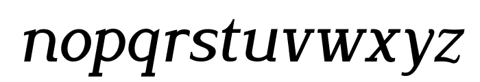 Lyons Serif Italic Font LOWERCASE