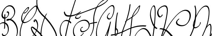 Lyric Dragon Semi Bold Font UPPERCASE