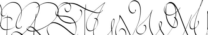 Lyric Dragon Font UPPERCASE
