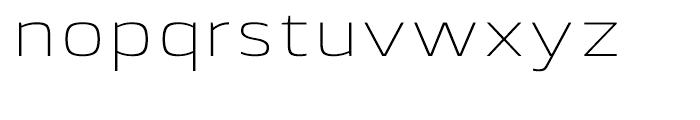 Lytiga Extended ExtraLight Font LOWERCASE