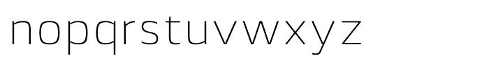 Lytiga ExtraLight Font LOWERCASE