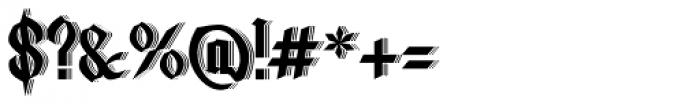 Lycaner 3D Font OTHER CHARS