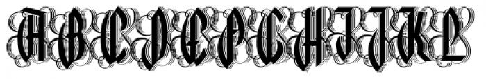 Lycaner 3D Font UPPERCASE