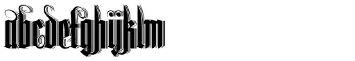 Lycaner 3D Font LOWERCASE