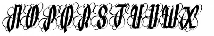 Lycaner Italic Font UPPERCASE