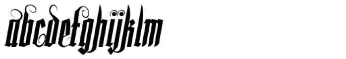 Lycaner Italic Font LOWERCASE
