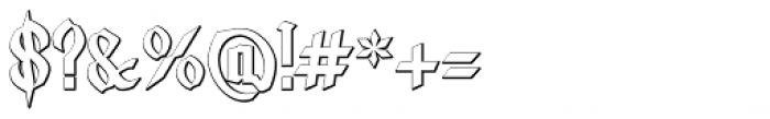 Lycaner Outline Font OTHER CHARS