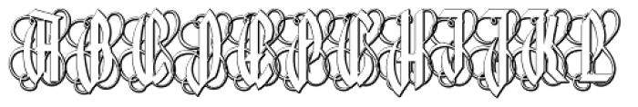 Lycaner Outline Font UPPERCASE