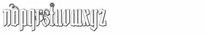 Lycaner Outline Font LOWERCASE